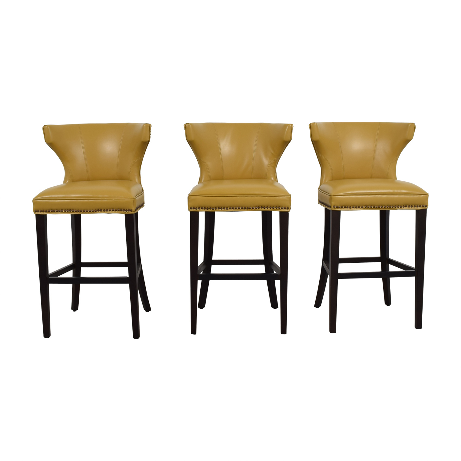 72% Off - Grandin Road Grandin Road Mustard Yellow Bar Stools / Chairs in Grandin Leather Sofa Chairs