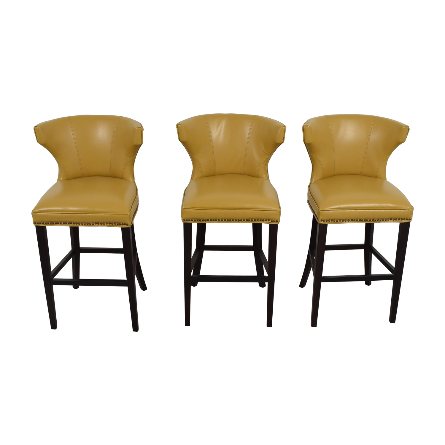 72% Off - Grandin Road Grandin Road Mustard Yellow Bar Stools / Chairs within Grandin Leather Sofa Chairs