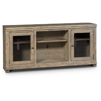 74 Inch Distresssed Gray Tv Stand - Willow