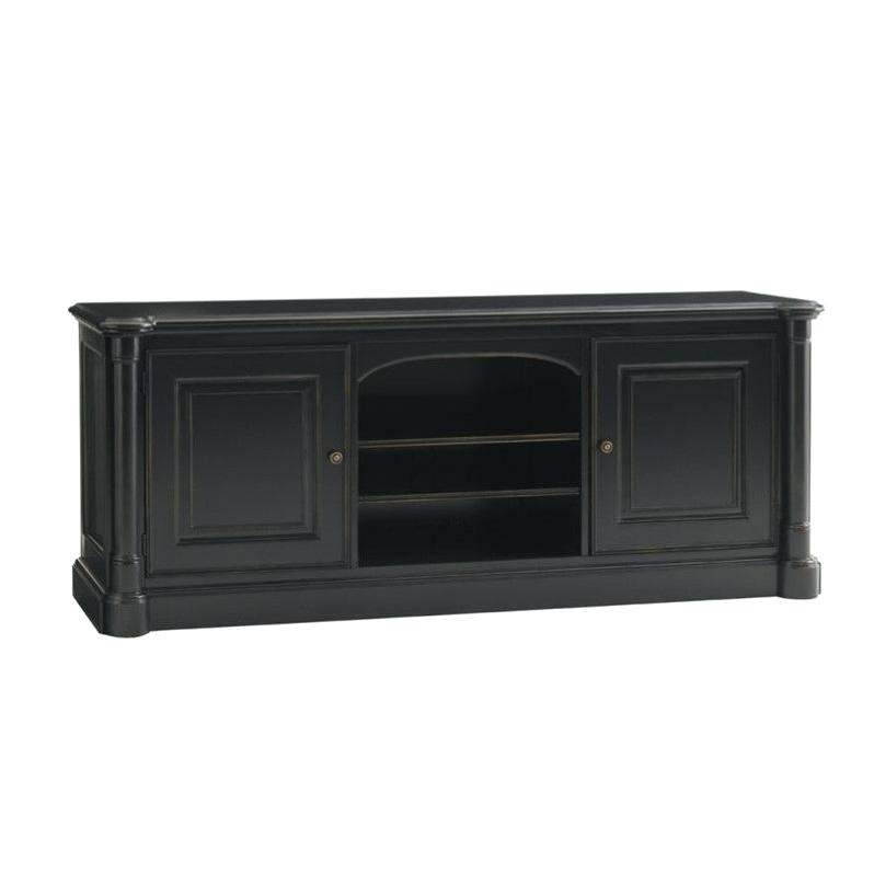 74 Tv Console Harbor View Linen Entertainment Wall With Console within Well-known Walton 74 Inch Open Tv Stands