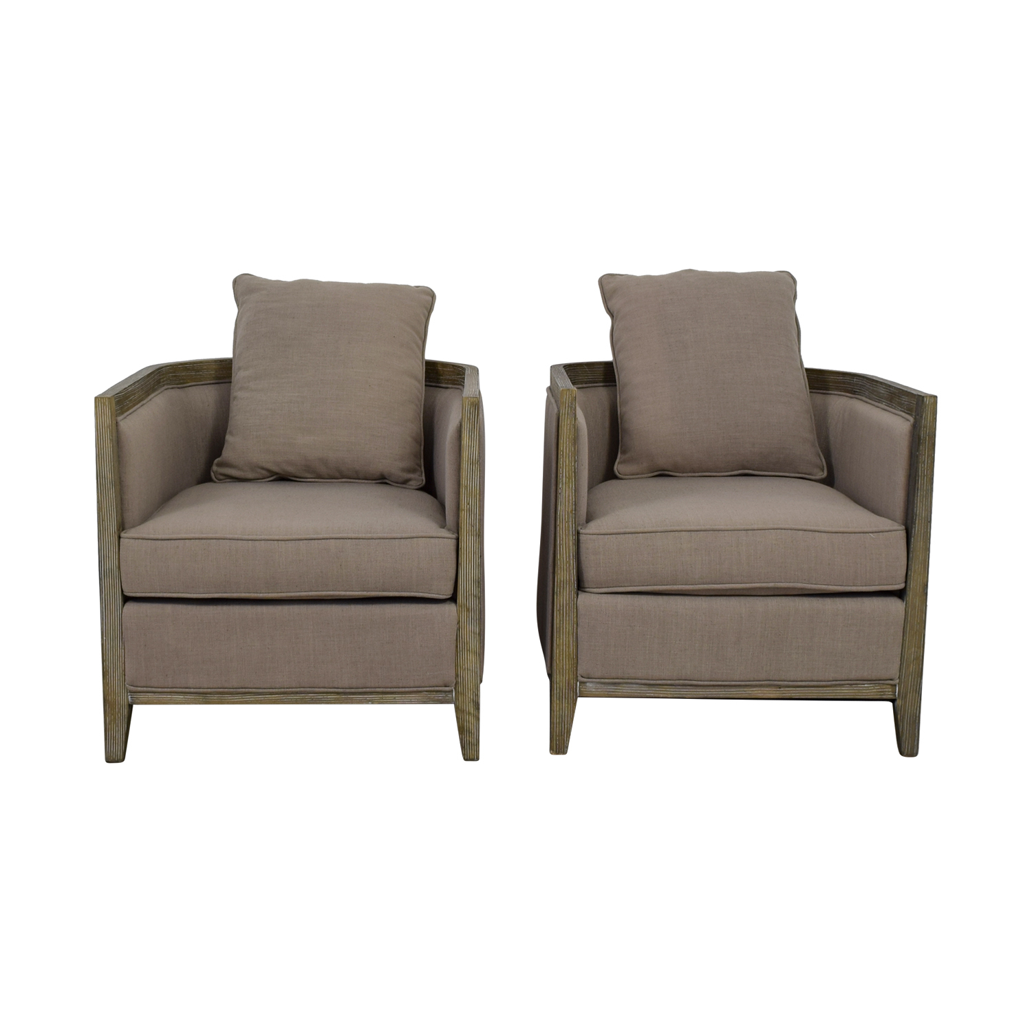 75% Off - Carbon Loft Carbon Loft Tull Beige Linen Lounge Accent within Loft Black Swivel Accent Chairs