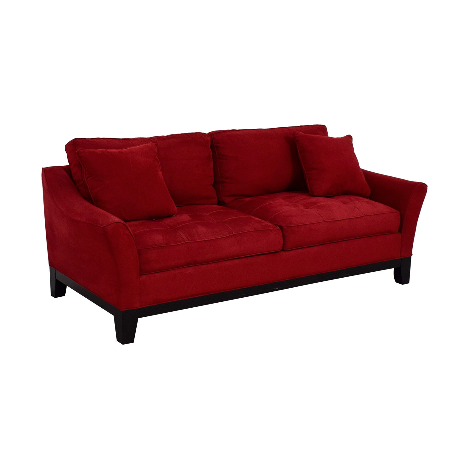79% Off – Raymour & Flanigan Raymour & Flanigan Rory Red Thufted With Regard To Rory Sofa Chairs (View 9 of 25)