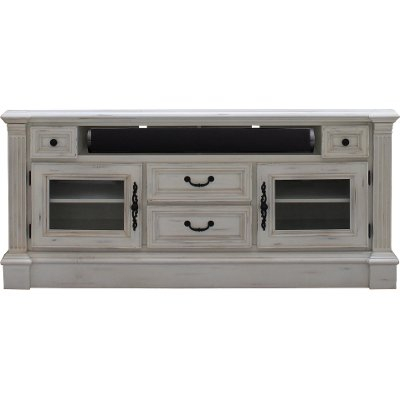 80 Inch Distressed White Tv Stand - Prisma