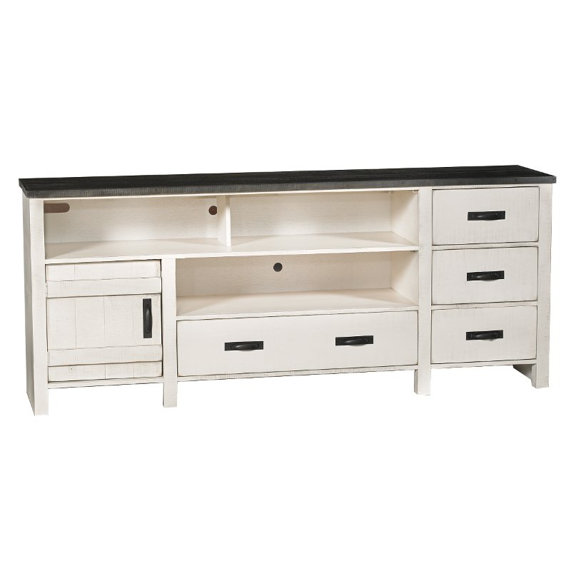 80 Inch Rustic White Tv Stand - Descanso