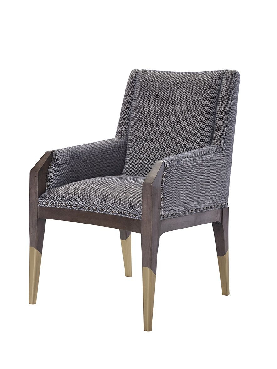 8506 11 Tate Arm Chair With Gilded Legs | Hable For Hickory Chair Tm Within Tate Ii Sofa Chairs (Image 1 of 25)