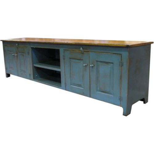 90 Inch Tv Console – Handcrafted Painted Tv Stand (Image 3 of 25)