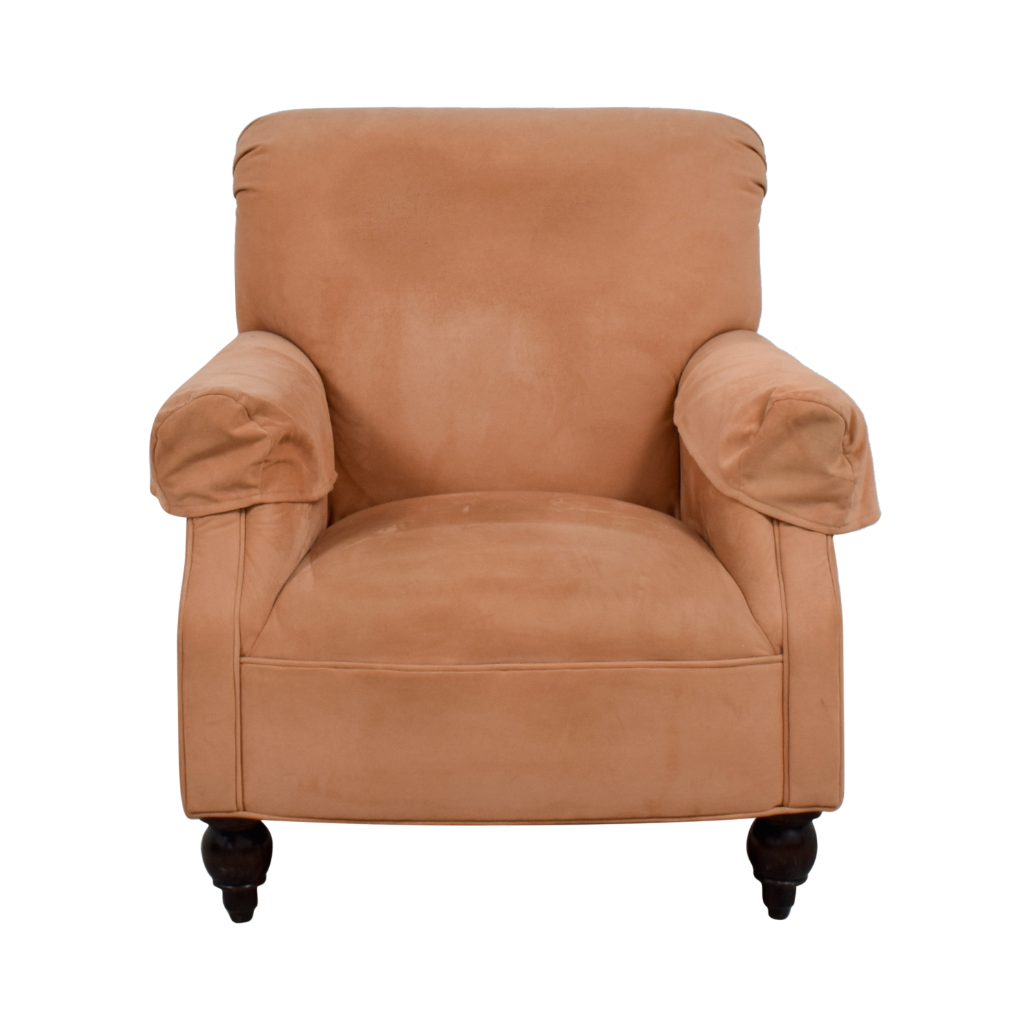 90% Off - Expressions Devon Microfiber Salmon Accent Chair / Chairs inside Devon Ii Swivel Accent Chairs