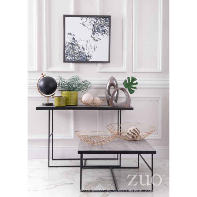 A10725 - Forest Console Table Black in Popular Scattered Geo Console Tables