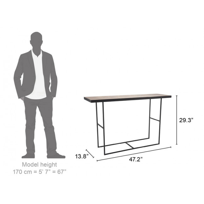 A10725 – Forest Console Table Black With Regard To Most Recently Released Scattered Geo Console Tables (View 13 of 25)