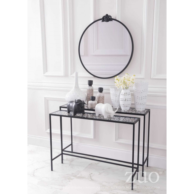 A10739 - Web Set Of 2 Console Tables Black within Most Popular Scattered Geo Console Tables