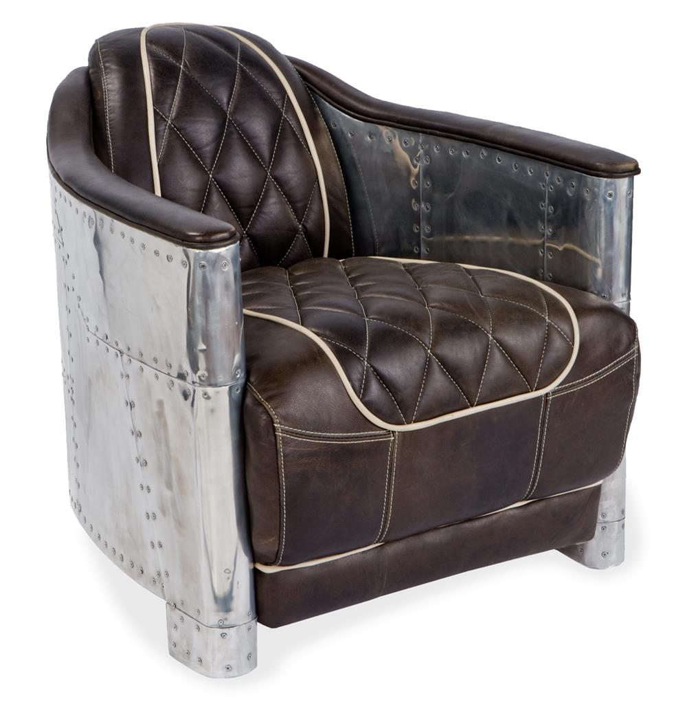 Aarnio Industrial Loft Aluminum Espresso Black Leather Arm Chair Throughout Loft Arm Sofa Chairs (View 7 of 25)