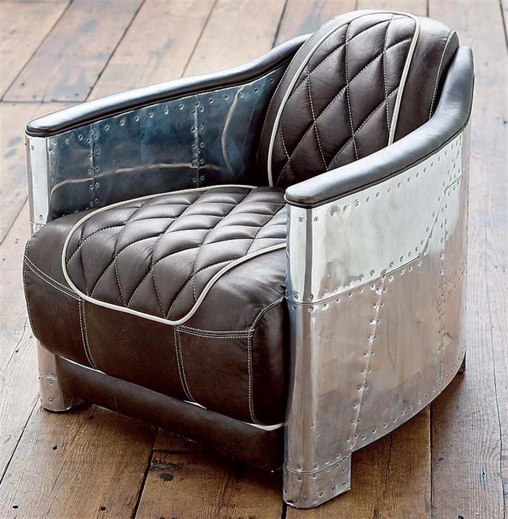 Aarnio Industrial Loft Aluminum Espresso Black Leather Arm Chair Within Loft Arm Sofa Chairs (Image 2 of 25)