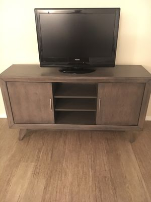 Abbott Driftwood 60 Inch Tv Stand, 5 Months Old! For Sale In San For Favorite Abbott Driftwood 60 Inch Tv Stands (Image 2 of 25)