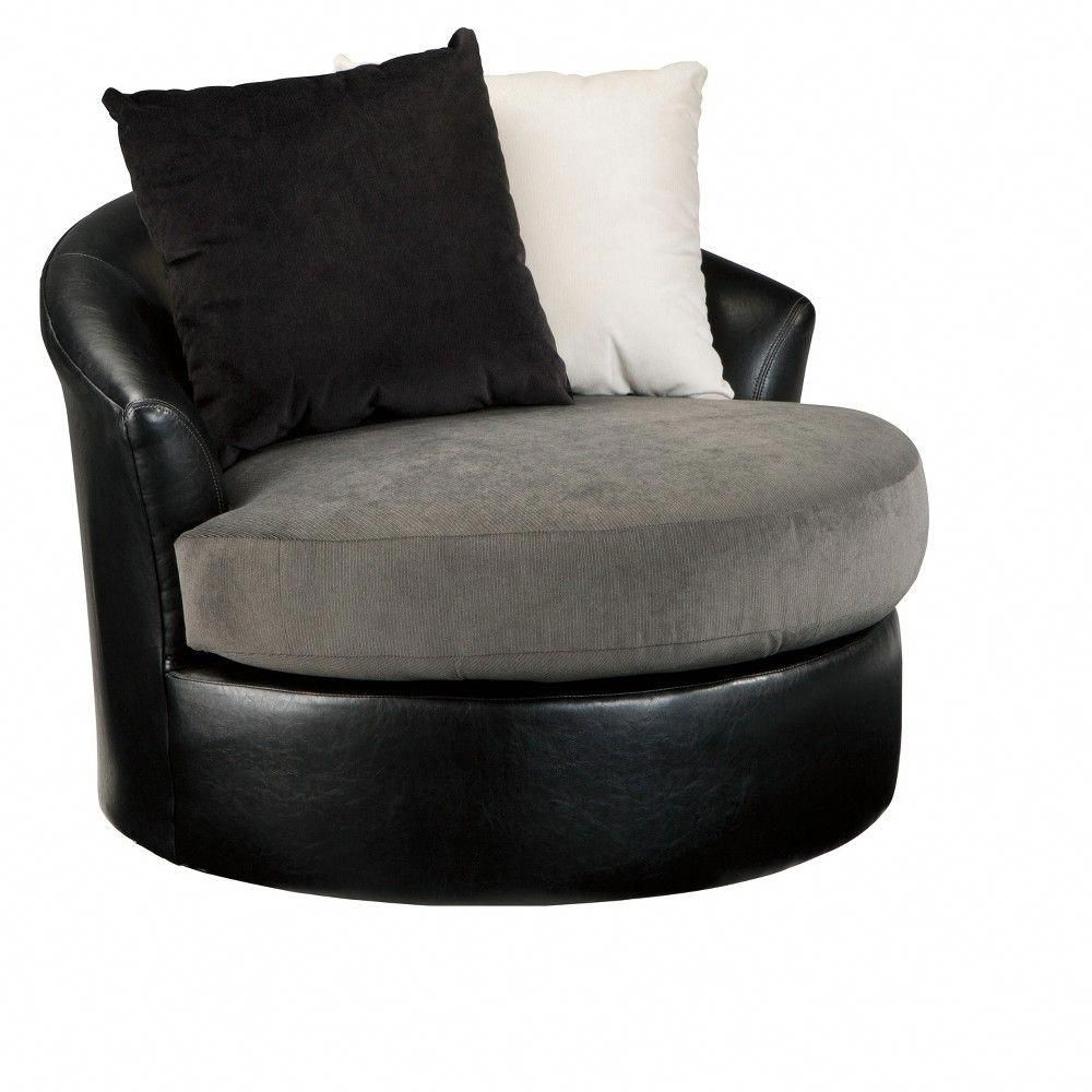 Accent Chairs Black – Signature Designashley, Elephant Intended For Sierra Foam Ii Oversized Sofa Chairs (Image 1 of 25)