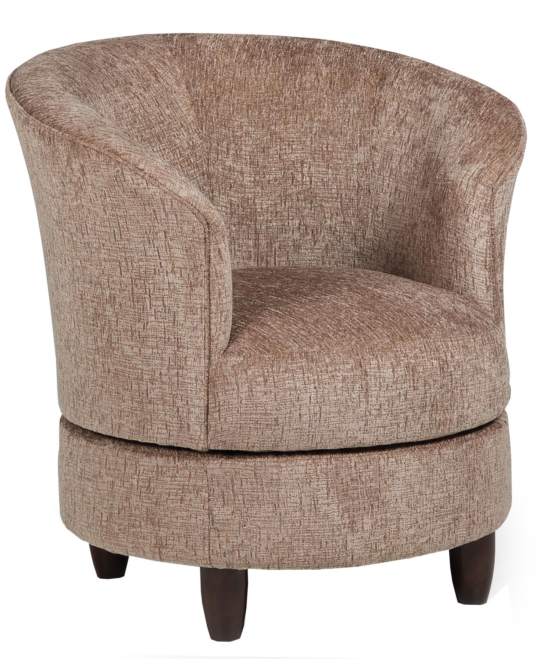 Accent Chairs Swivel Barrel Chairbest Home Furnishings | Living Within Harbor Grey Swivel Accent Chairs (Image 2 of 25)