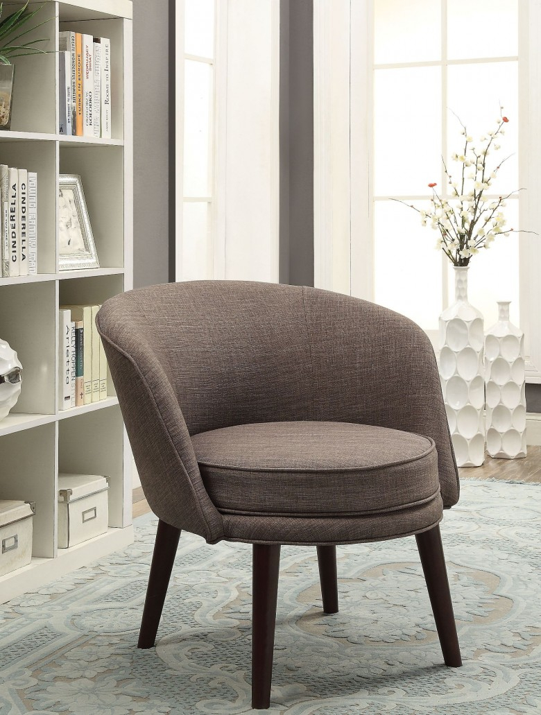 Acme Amari Gray Stone Linen Accent Chair – Amari Collection: 6 Pertaining To Amari Swivel Accent Chairs (View 5 of 25)