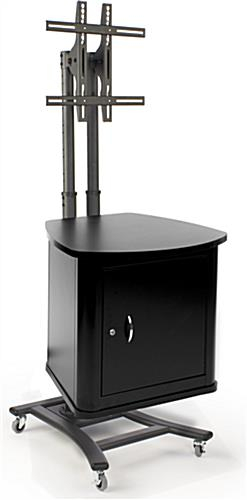 Adjustable Mount And Locking Storage In Newest Lockable Tv Stands (Image 1 of 25)