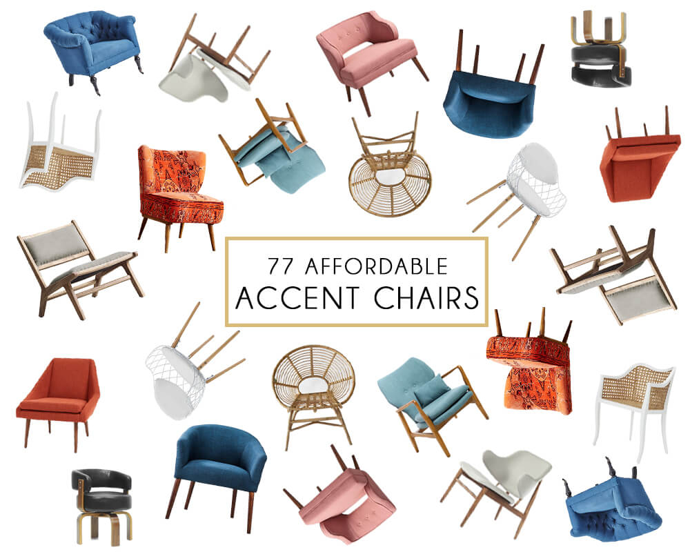 Affordable Accent Chair Roundup – Emily Henderson Throughout Katrina Blue Swivel Glider Chairs (Image 1 of 25)
