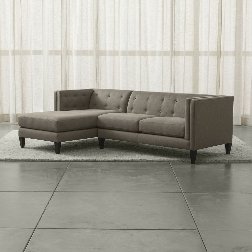Aidan 2 Piece Left Arm Chaise Tufted Sectional Sofa | Products Intended For Aidan Ii Sofa Chairs (Image 4 of 25)