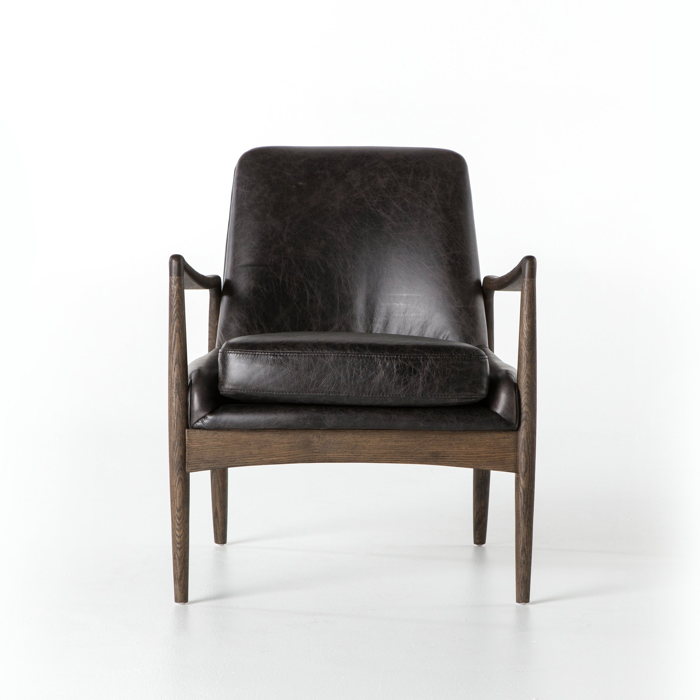 Aidan Leather Chair In Durango Smoke Designbd Studio | Smoking With Aidan Ii Sofa Chairs (View 13 of 25)