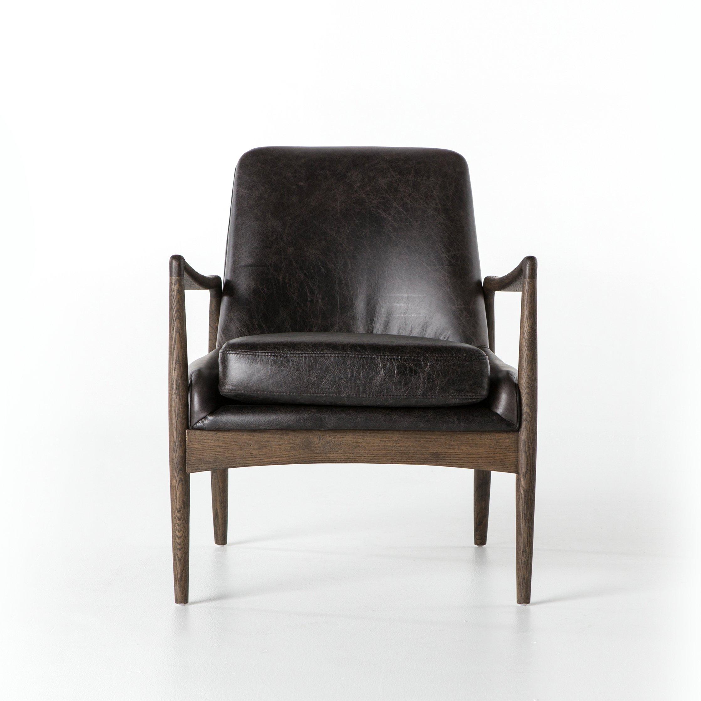 Aidan Leather Chair In Durango Smoke Designbd Studio   Smoking With Aidan Ii Sofa Chairs (Image 14 of 25)