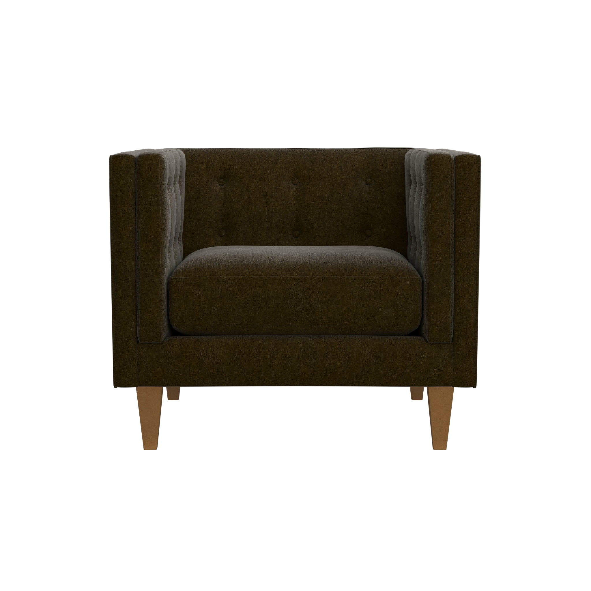 "Aidan Velvet 38"" Tufted Chair 