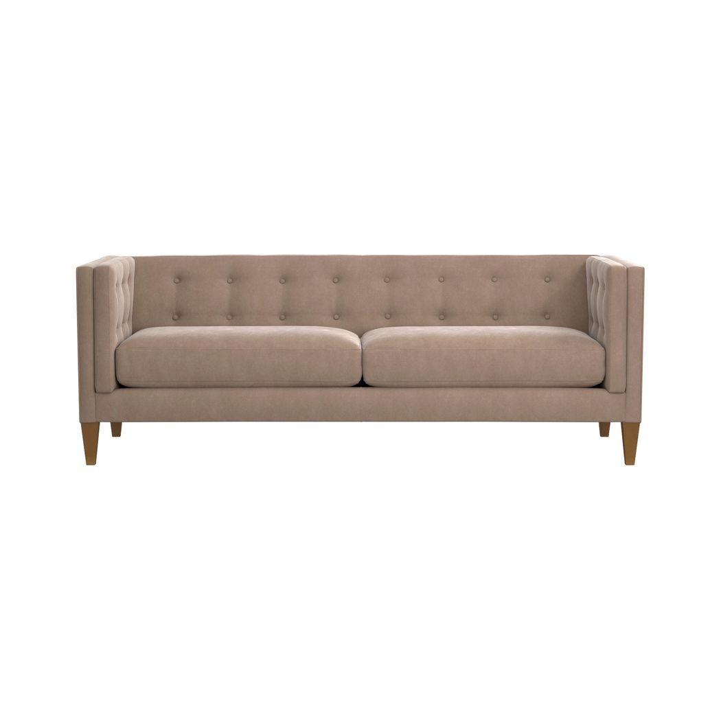 Aidan Velvet Tufted Sofa | Furnitures | Pinterest | Velvet Sofa Inside Aidan Ii Sofa Chairs (View 2 of 25)