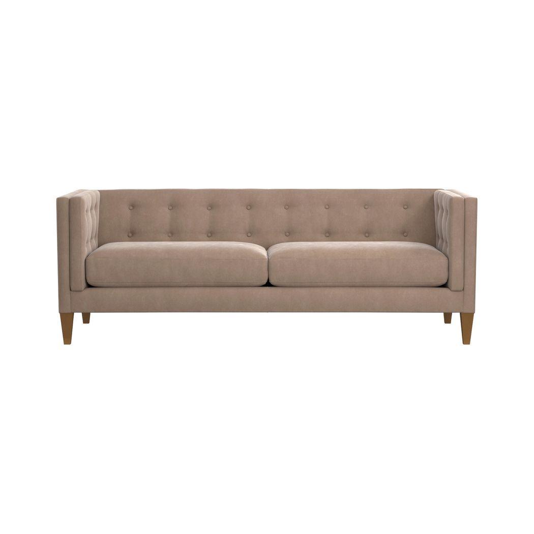 Aidan Velvet Tufted Sofa   Furnitures   Pinterest   Velvet Sofa Inside Aidan Ii Sofa Chairs (Image 20 of 25)