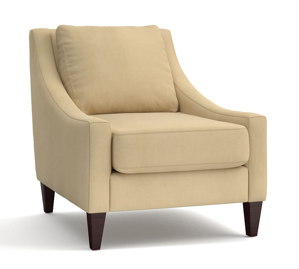 Aiden Upholstered Armchair, Polyester Wrapped Cushions, Organic In Aidan Ii Swivel Accent Chairs (View 15 of 25)