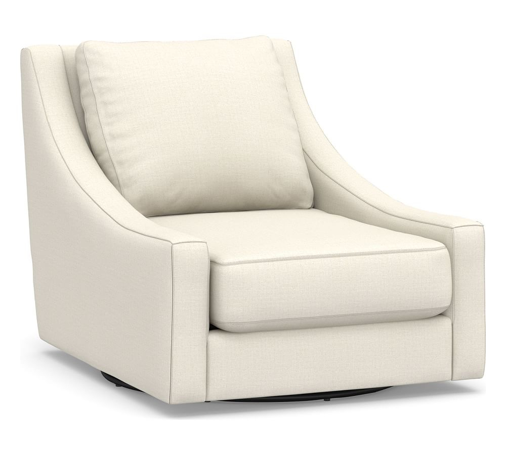 Aiden Upholstered Swivel Armchair, Polyester Wrapped Cushions With Aidan Ii Swivel Accent Chairs (View 1 of 25)