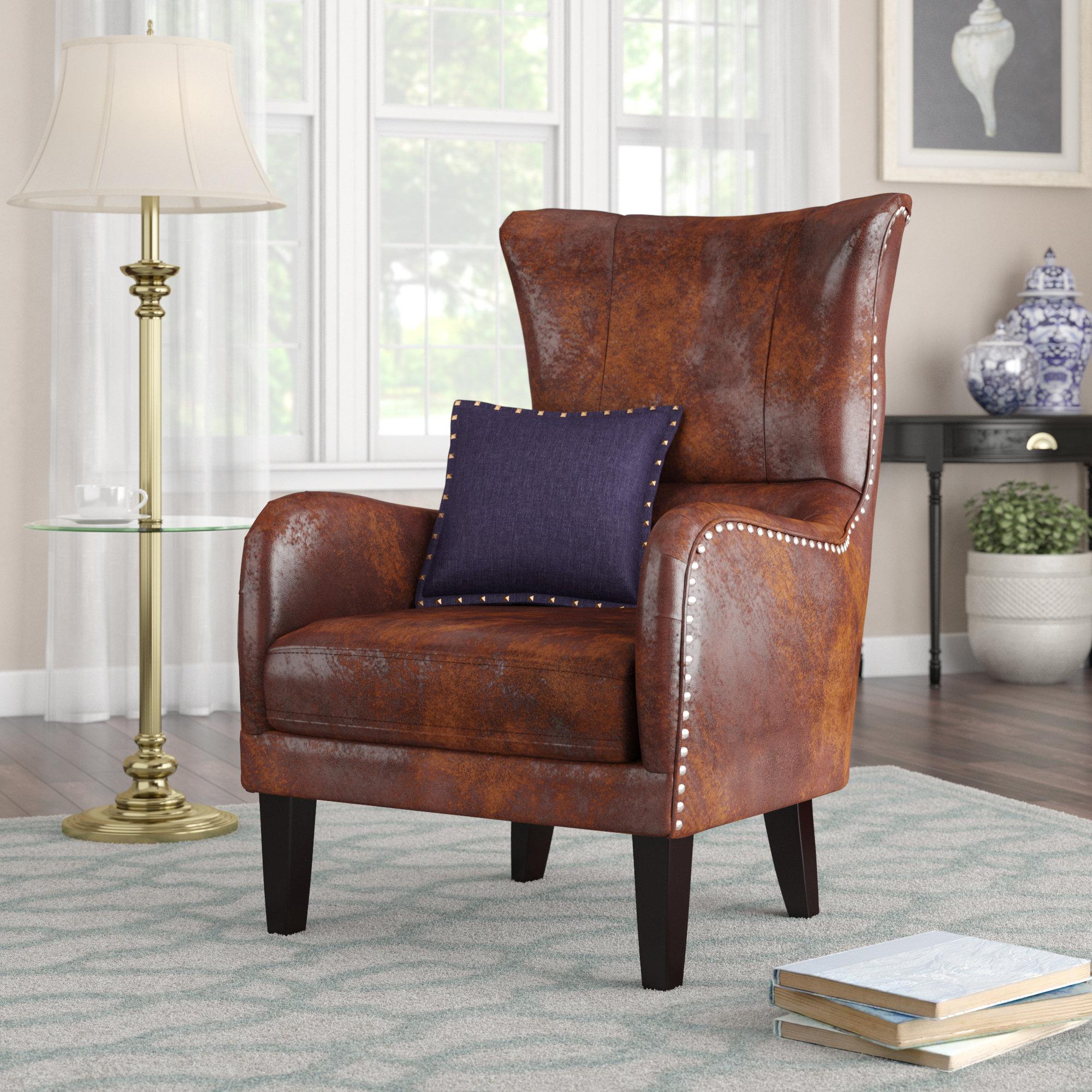 Alcott Hill Gordon Wingback Chair & Reviews | Wayfair With Regard To Gordon Arm Sofa Chairs (View 22 of 25)