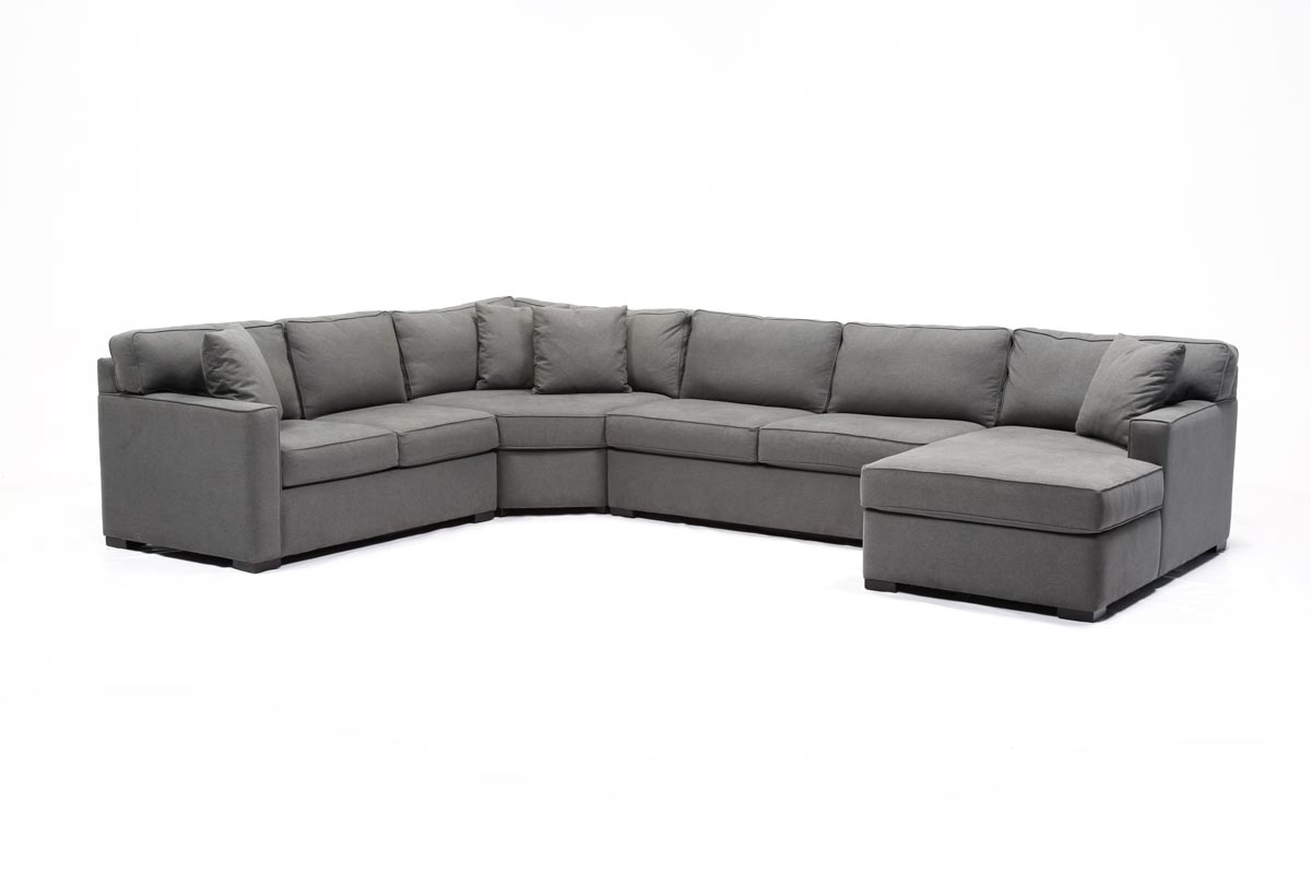 Alder 4 Piece Sectional | Living Spaces With Regard To Alder Grande Ii Sofa Chairs (View 19 of 25)