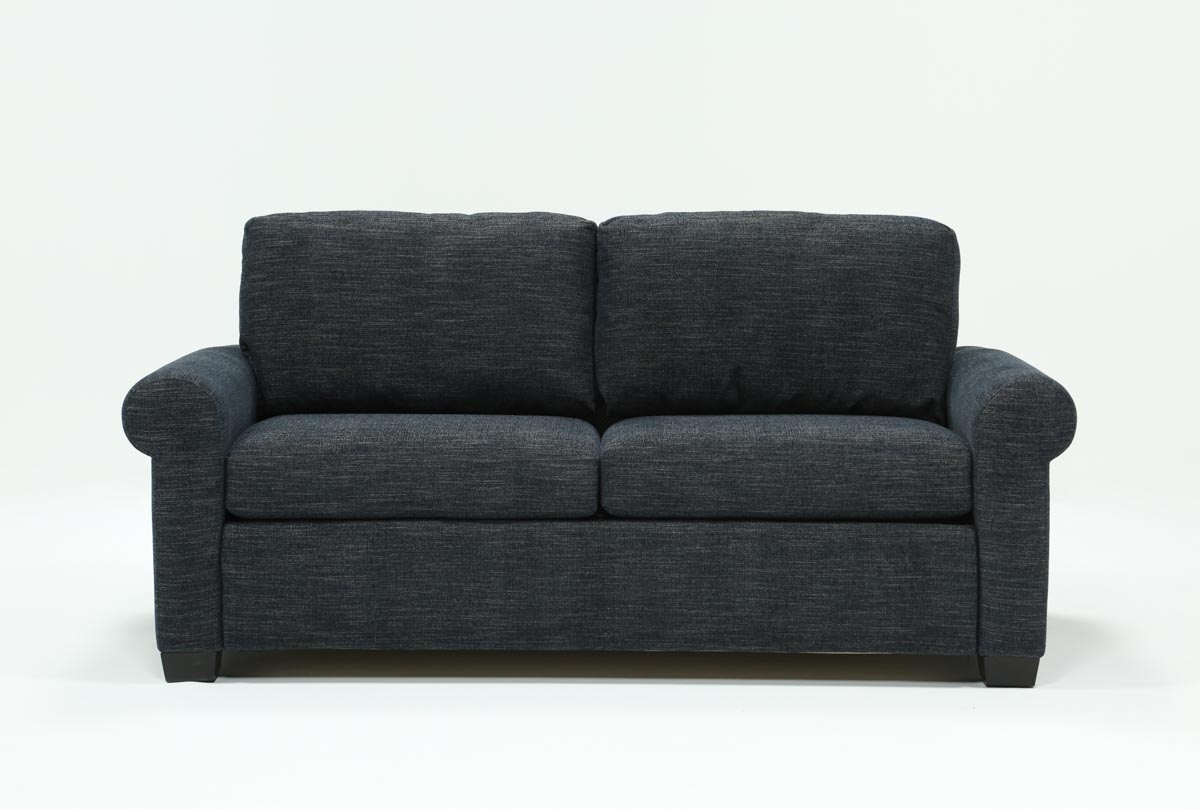 Alexis Denim Queen Sofa Sleeper | Living Spaces In Cohen Foam Oversized Sofa Chairs (View 16 of 25)