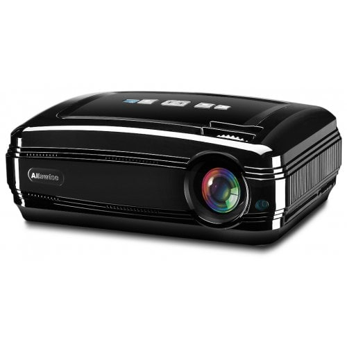 Alfawise X 3200 Lumens Hd 1080P Smart Projector Support 4K Pertaining To Most Recent Kilian Grey 49 Inch Tv Stands (Image 2 of 25)