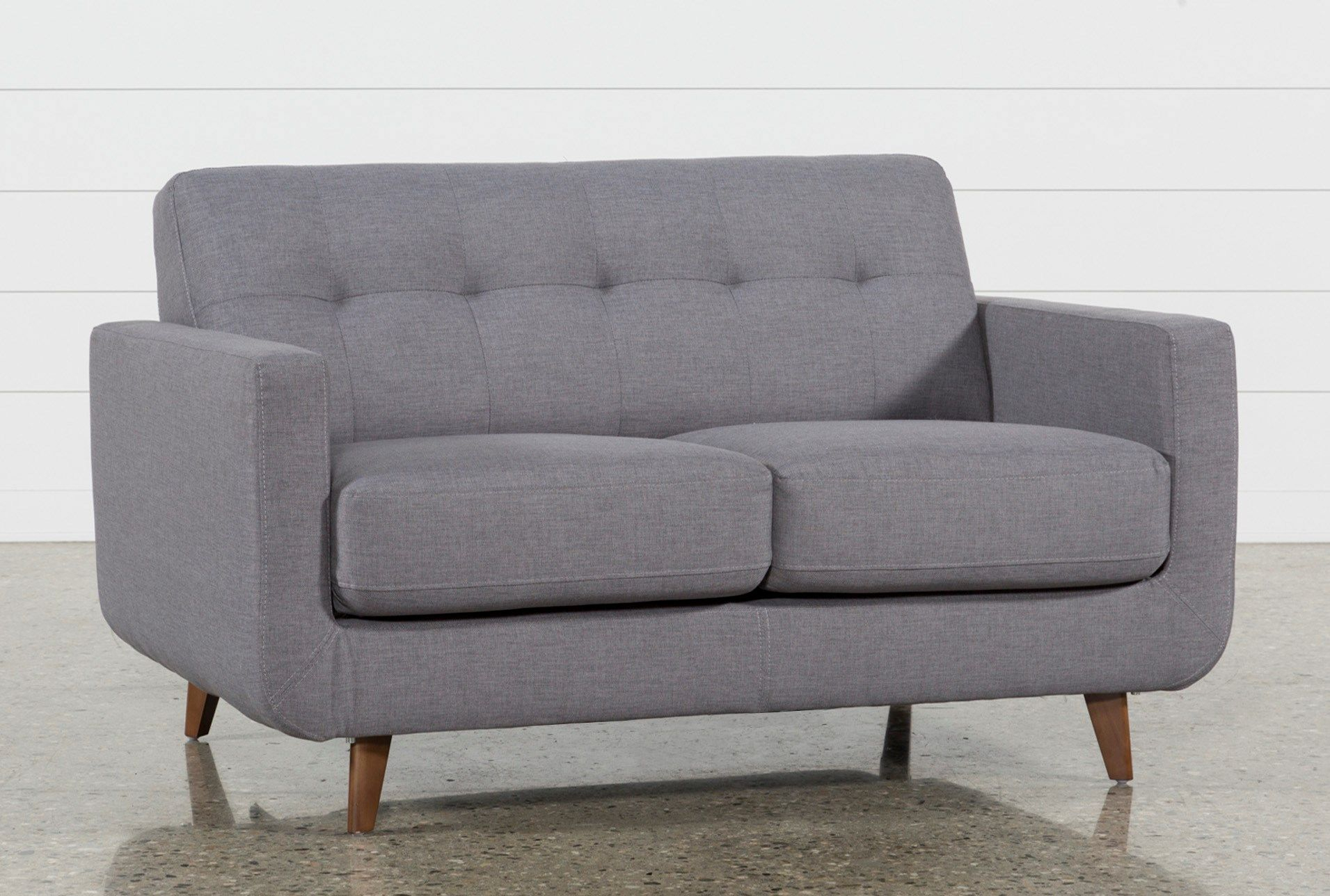 Allie Dark Grey Loveseat | Dark Grey, Mid Century Modern And Living Pertaining To Allie Jade Sofa Chairs (View 5 of 25)