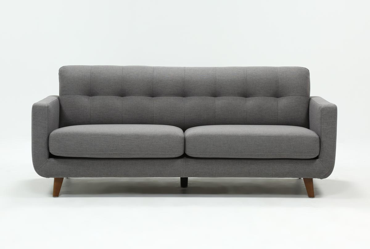 Allie Dark Grey Sofa | Living Spaces for Allie Dark Grey Sofa Chairs