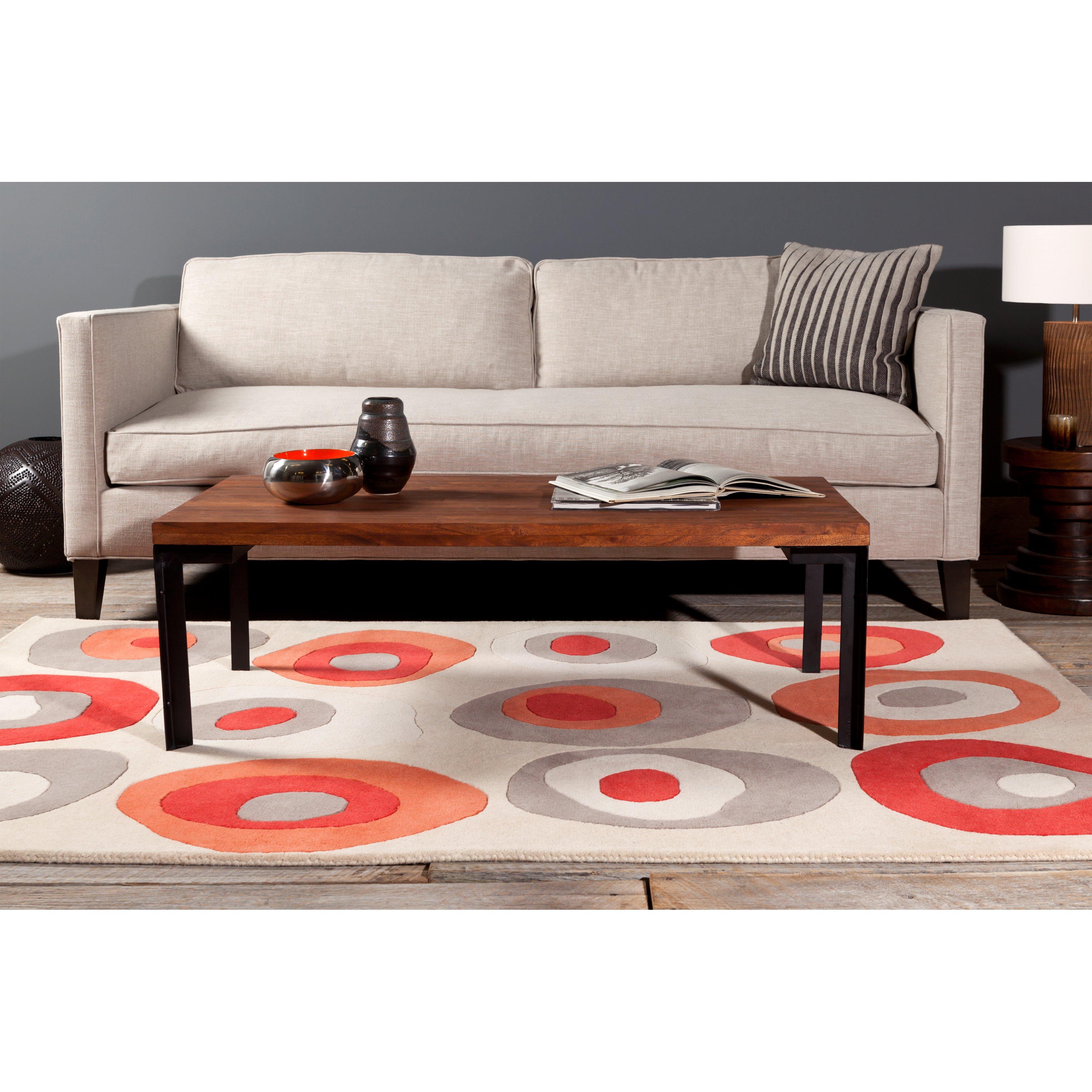 "Allie Handmade Geometric Gray Abstract Wool Rug (5' X 7' 6"") – 5' X Regarding Allie Dark Grey Sofa Chairs (View 10 of 25)"