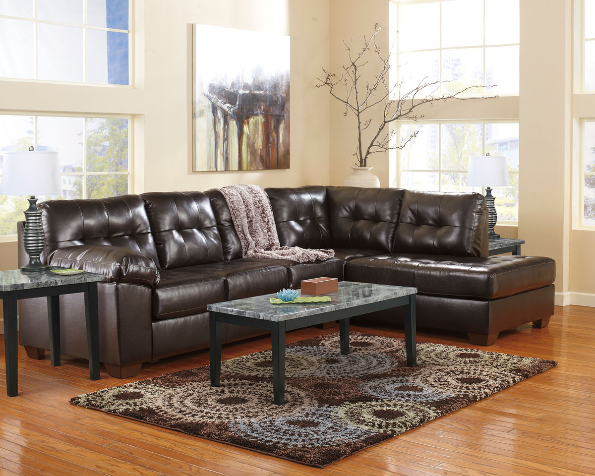 Alliston Durablend® – Chocolate – Laf Sofa, Raf Corner Chaise Regarding Rory Sofa Chairs (View 12 of 25)