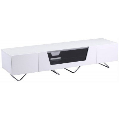 Alphason Chromium 1600Mm White Cantilever Tv Stand (Cro2 1600Bkt Wht) With Regard To Latest White Cantilever Tv Stand (Photo 19 of 25)