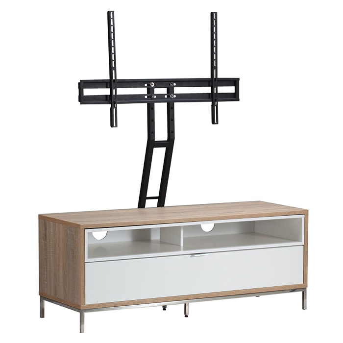 Alphason Designs Adch1135 Wht Chaplin Tv Cabinet For Up To 52 Inch Pertaining To Favorite Alphason Tv Cabinet (Image 4 of 25)