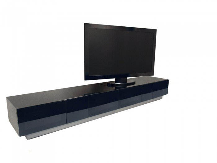 Alphason Element 2500 High Gloss Black Tv Cabinet Intended For 2018 High Gloss Tv Cabinets (Image 4 of 25)