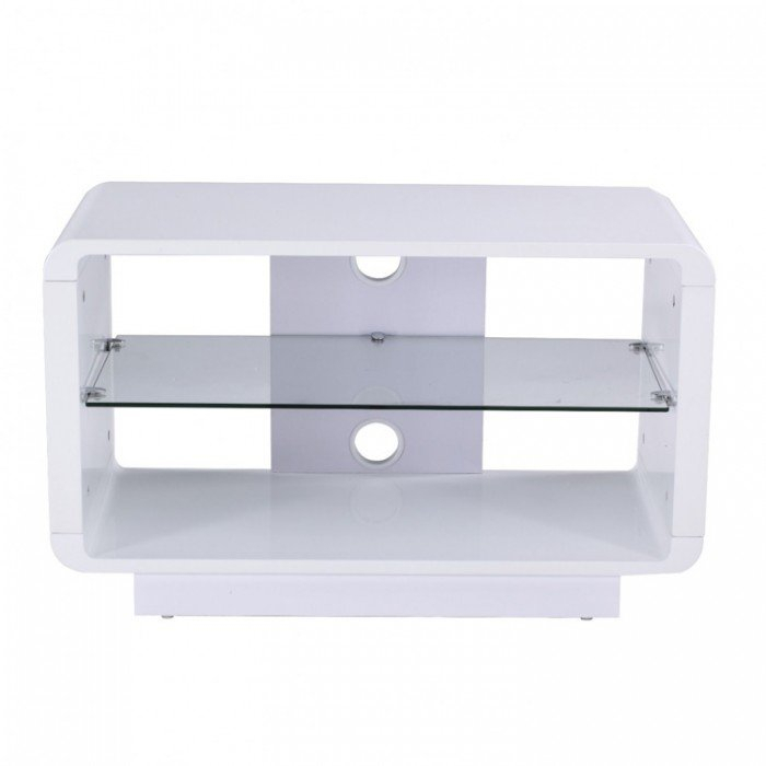 Alphason Luna Adlu800 Wht High Gloss White Tv Stand Inside Most Popular Cheap White Tv Stands (Image 1 of 25)