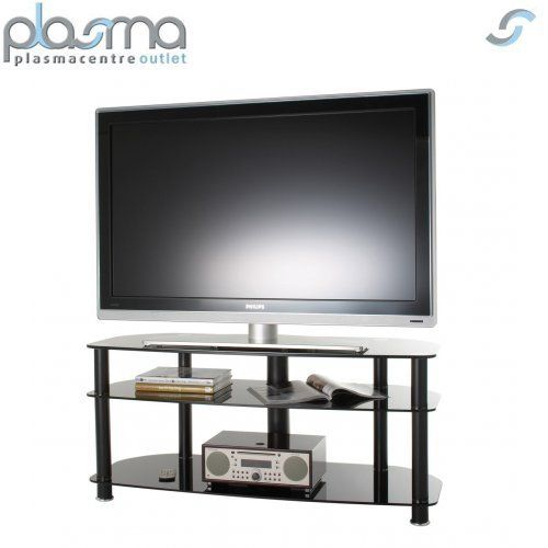"""Alphason Sona Series Alpha Tv Stand For Tvs Up To 60"""" Black 50"""" (Image 9 of 25)"""