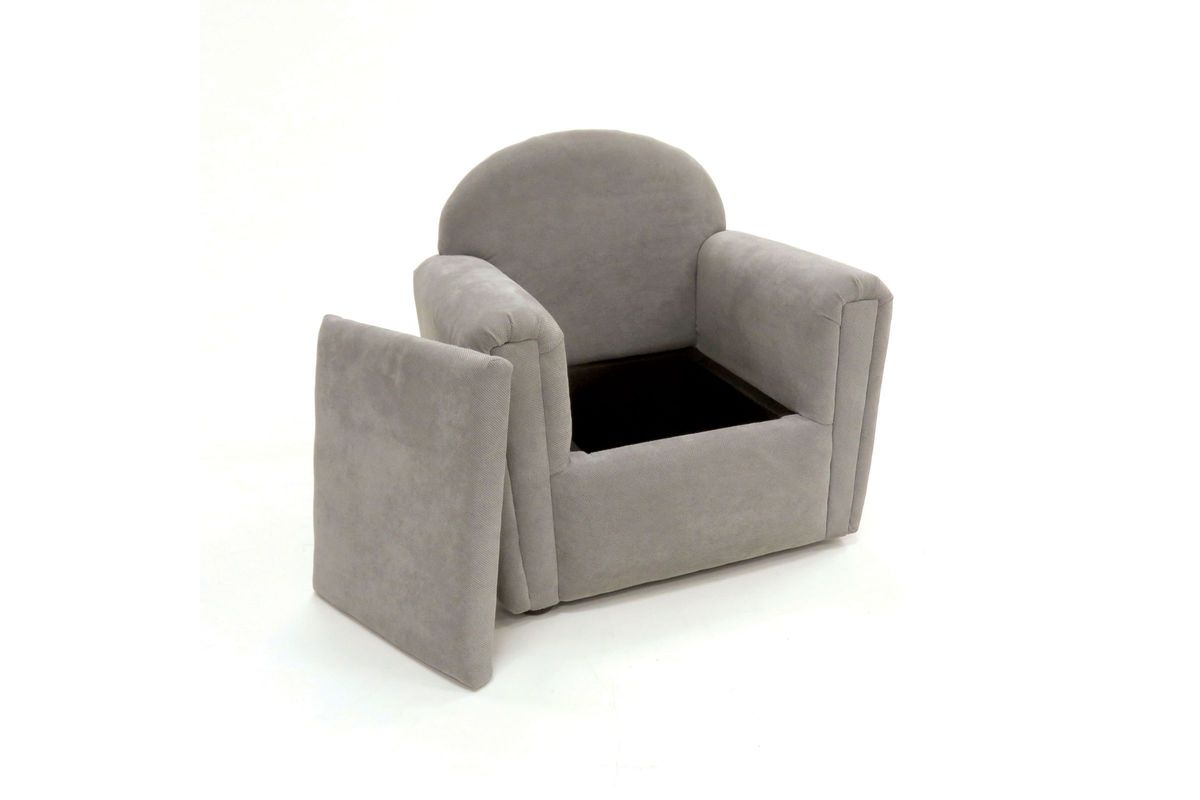 Amari Hidden Seat Storage Youth Accent Chair In Grey At Gardner White Pertaining To Amari Swivel Accent Chairs (View 11 of 25)