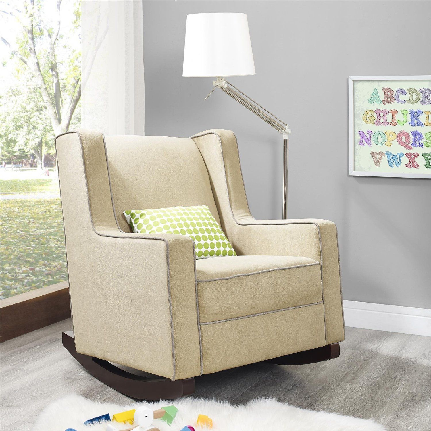Amazon – Baby Relax The Abby Nursery Rocker Chair, Beige For Abbey Swivel Glider Recliners (View 8 of 25)