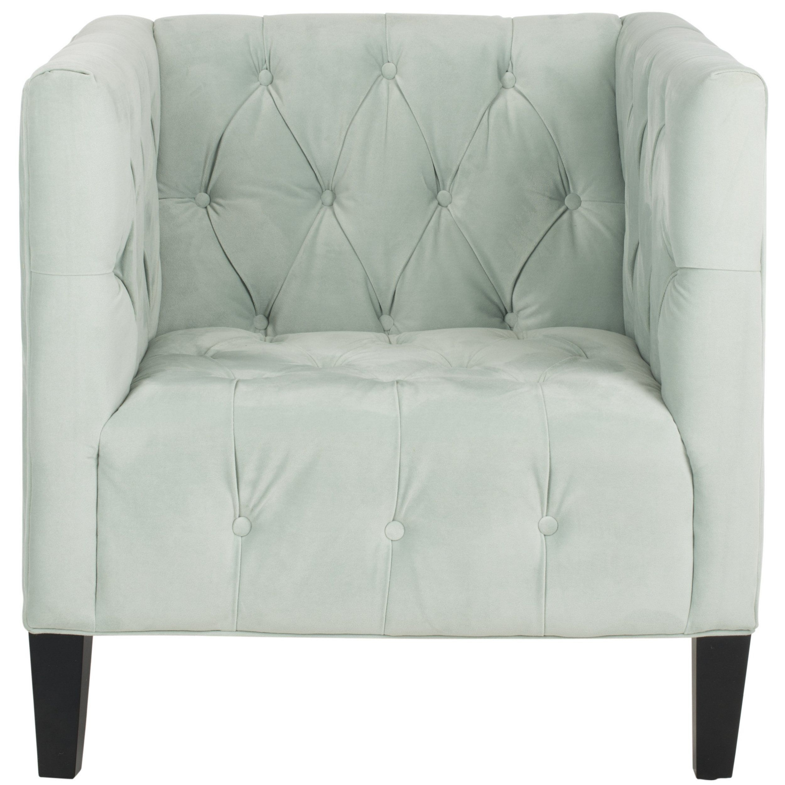Amazon – Safavieh Mercer Collection Glen Club Chair, Light Blue With Regard To Mercer Foam Oversized Sofa Chairs (View 21 of 25)