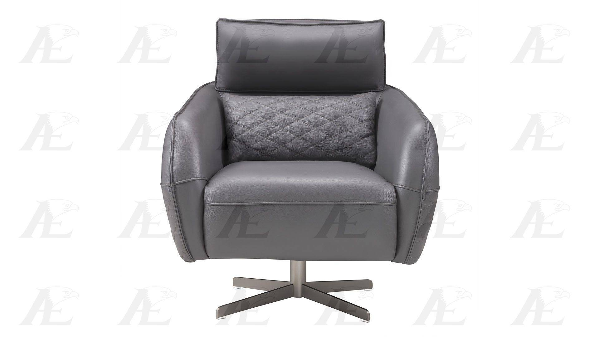 American Eagle Furniture Ek Ch06A Gr Dark Gray Swivel Accent Chair With Dark Grey Swivel Chairs (View 20 of 25)