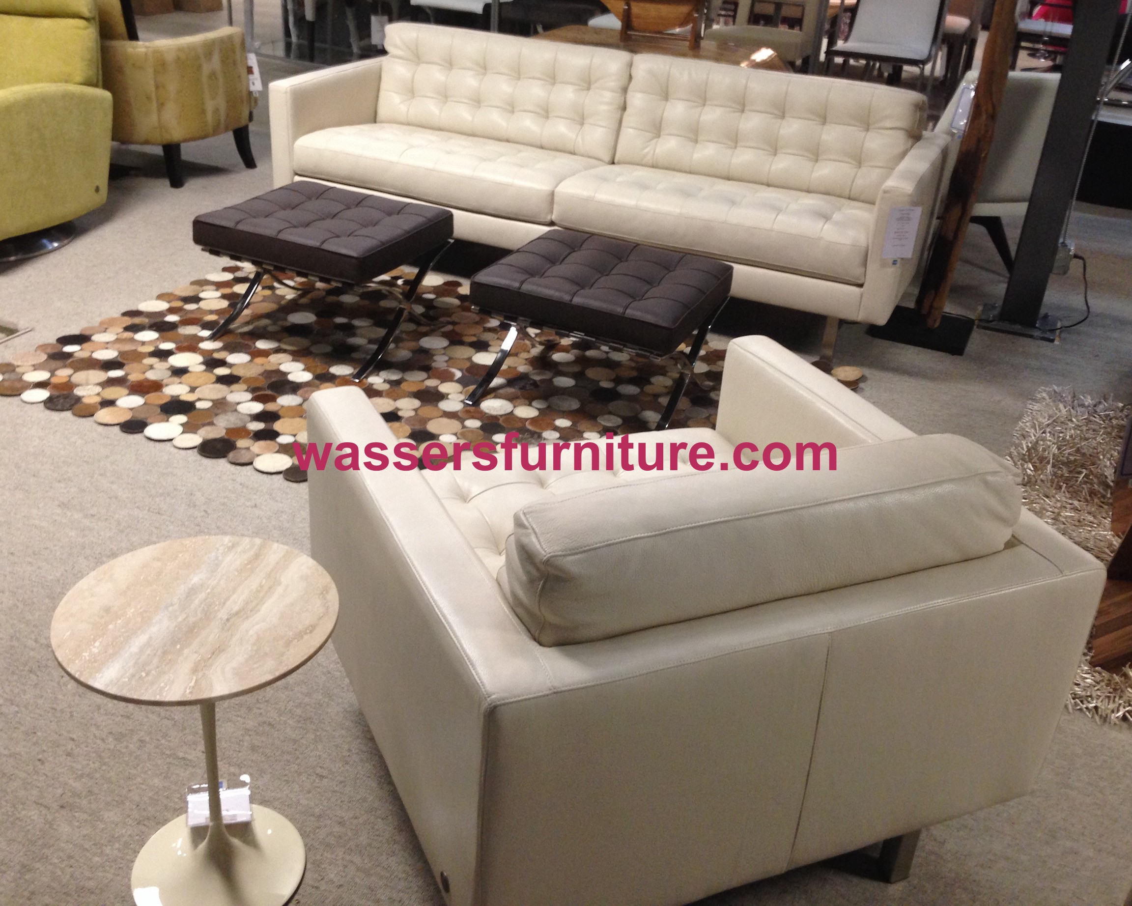 American Leather – Parker – Sofa – Bison White – Leather – In Stock! With Regard To Parker Sofa Chairs (Image 1 of 25)