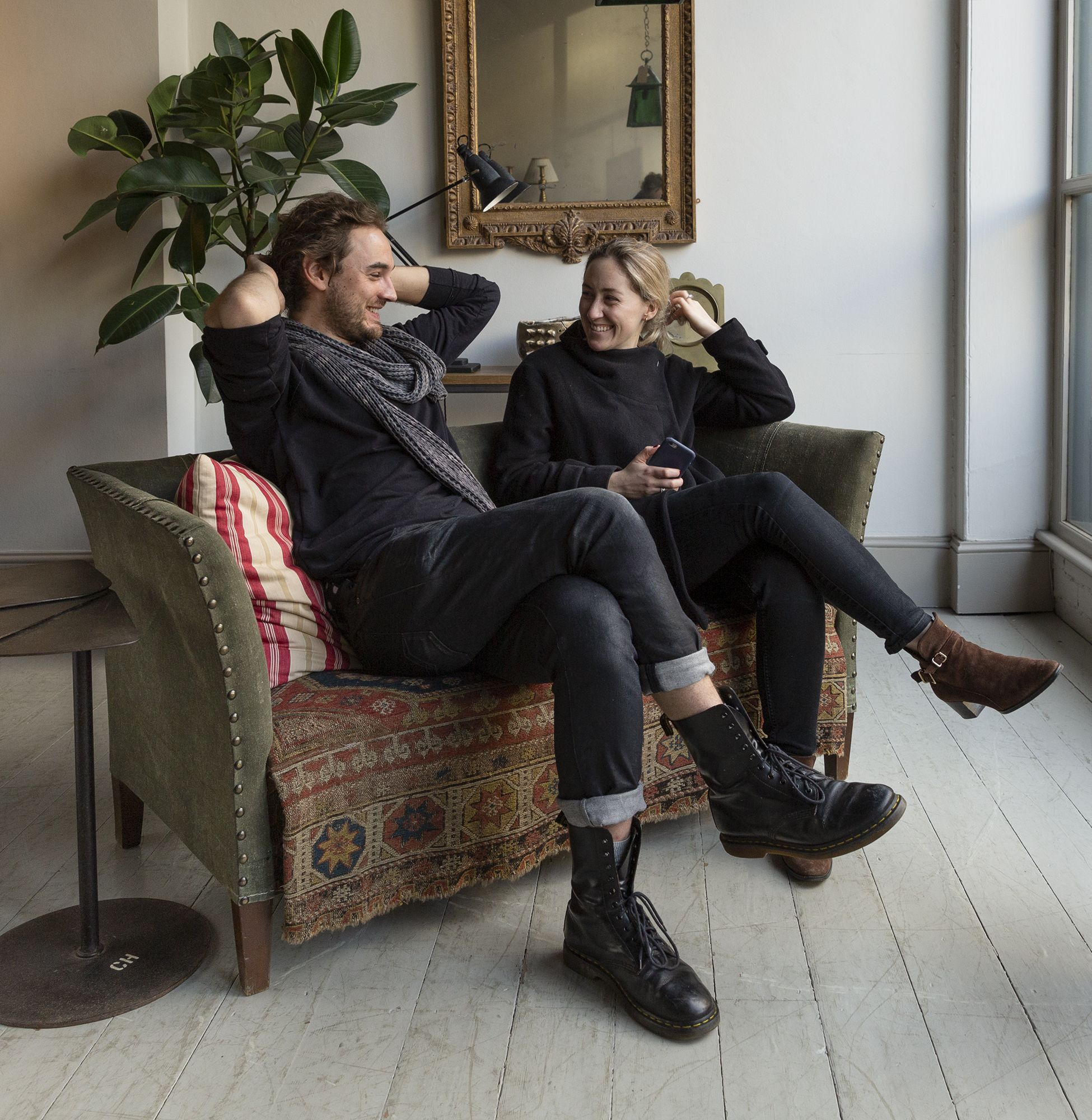 Ames & Claire Kicking Back On A Friday In This Fantastically Sized With Regard To Ames Arm Sofa Chairs (View 14 of 25)