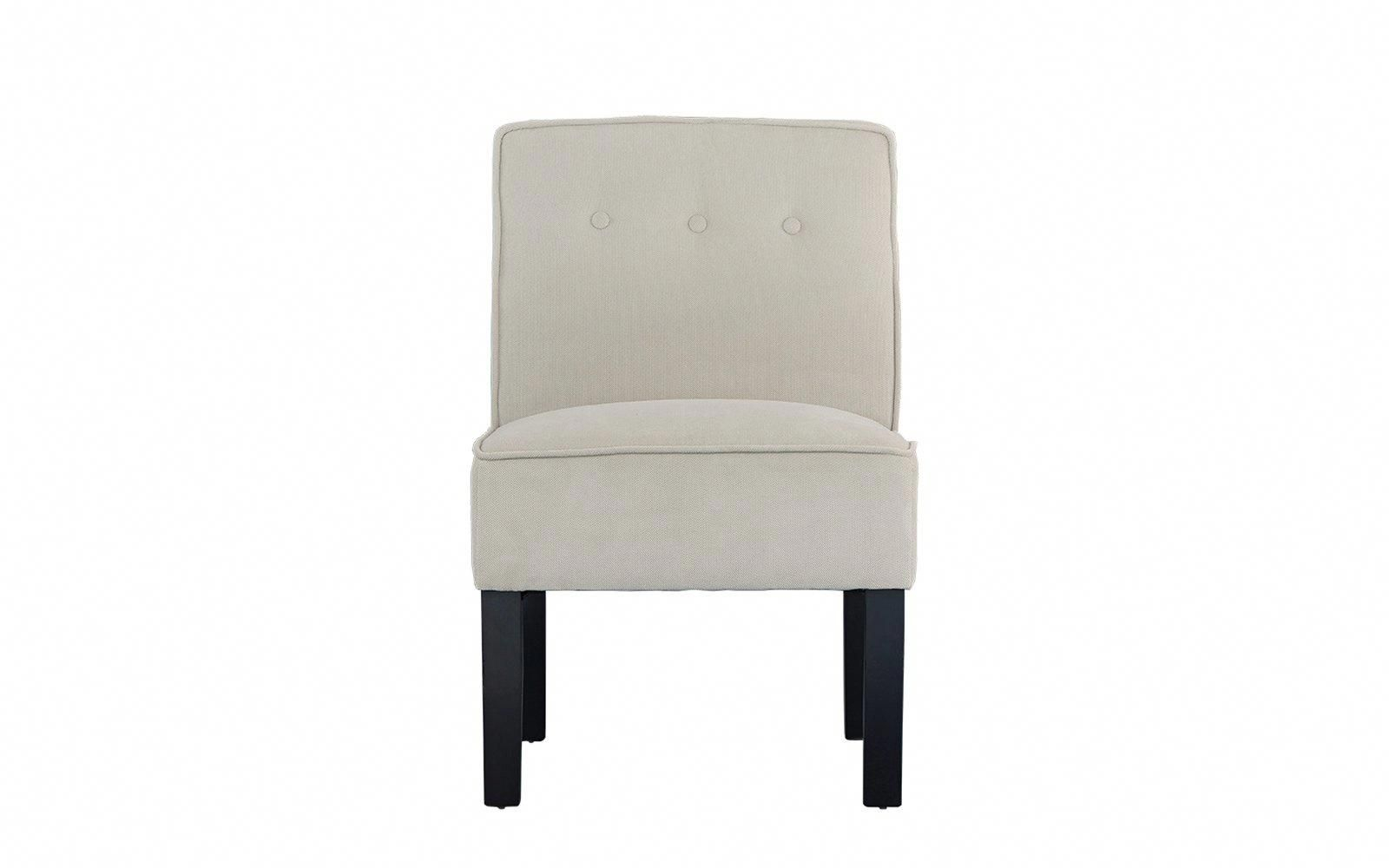 Ames Classic Armless Linen Accent Chair #ameschair | Oversized Chair Within Ames Arm Sofa Chairs (View 13 of 25)